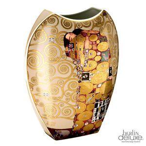 KLIMT by GOEBEL XXL Vase Tree of life NEW Porcelain Floor Vase Gold limited edt