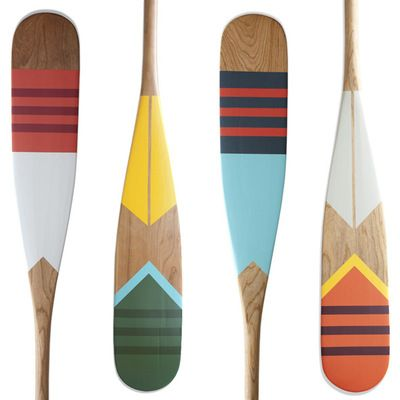 Canoe Dig These Handpainted Paddles By Northern Newcomers Norquay Painted Paddles Painted Oars Canoe Paddle