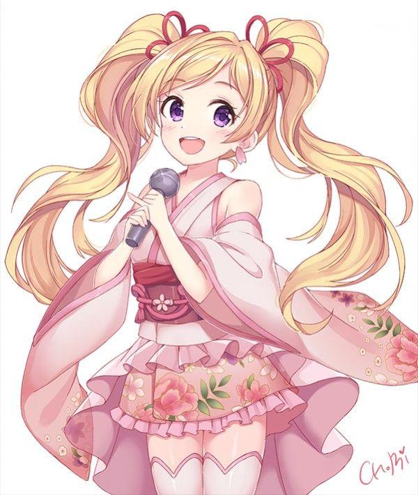 dessin idole chanteuse japon fille kimono par chobi_chu musique manga