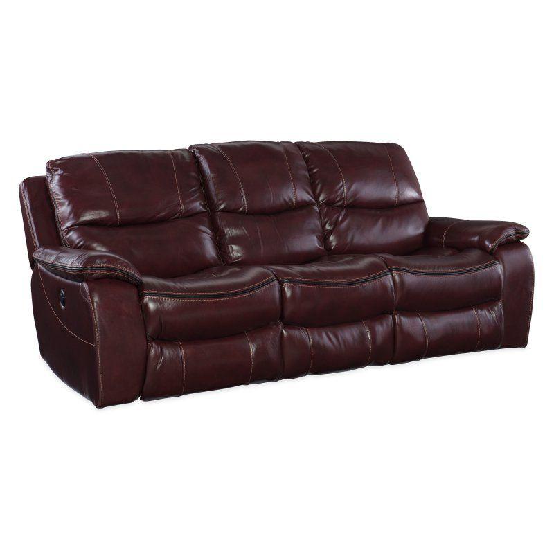 Hooker Furniture Gregory Power Motion Sofa Deep Brown - SS624-P3-088