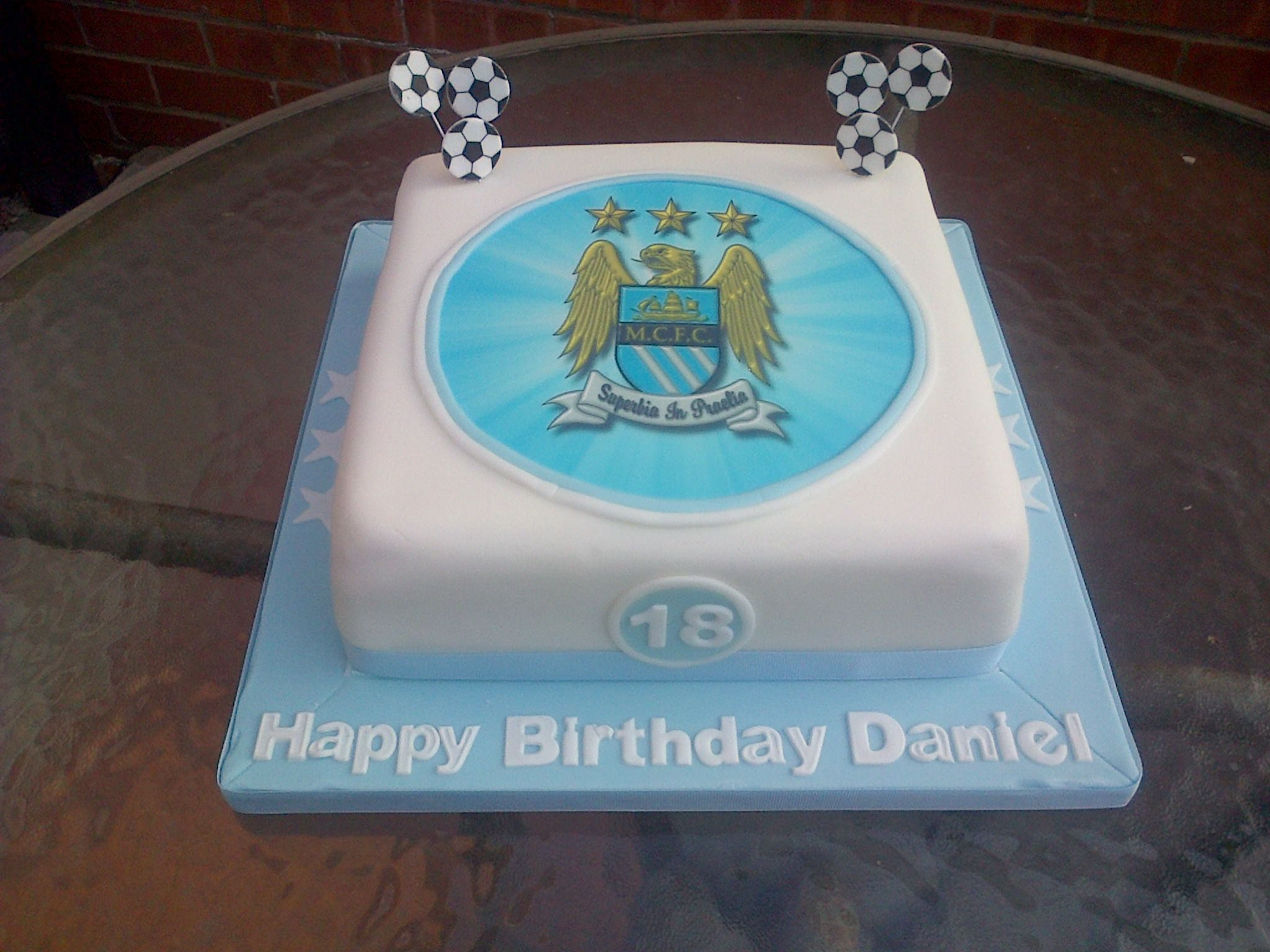 Manchester City cake for 18th Birthday.  James 7th Birthday ...