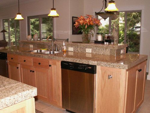 granite countertops for oak kitchen cabinets light colored oak cabinets with granite countertop 15984