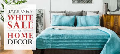 Bath Sheets On Sale Awesome Bed & Bath January White Sale On Home Decor At Lelaan  Zareen Inspiration Design