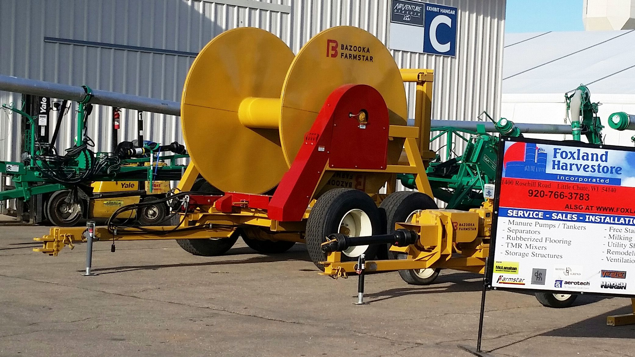 1000 Walking Tandem Hose Reel #Wisconsin #FarmEquipment