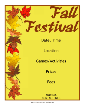 Really Great Example Of A Fall Carnival Flyer Meridian School