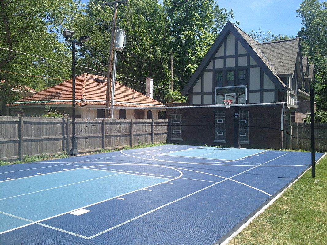 Pin By Lindsey Willey On Multi Sport Backyard Courts Backyard Court Backyard Sports Sport Court