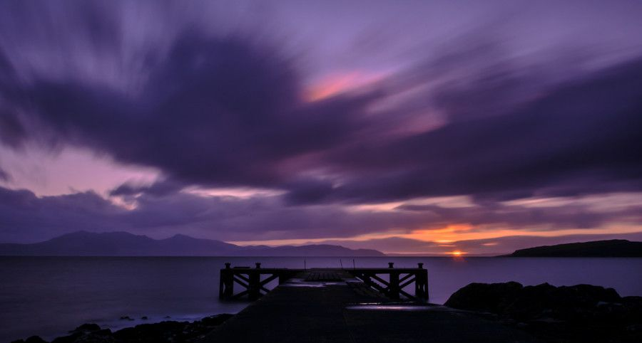 500px / Pier in purple by katerina folprechtova