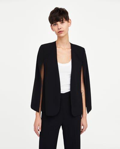 Femme France Veste Mode Zara Cape En Avec 2018 Blazers ZTTA6Stq
