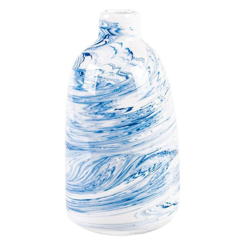 Blue Marbled Swirl Vase