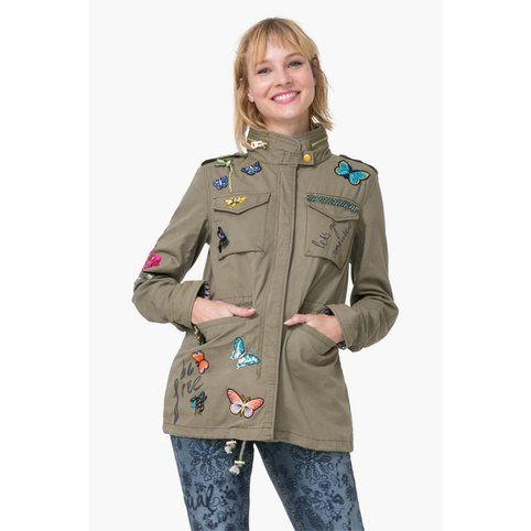 veste cargo esprit militaire femme taque desigual kaki vue 1 veste kaki pinterest. Black Bedroom Furniture Sets. Home Design Ideas