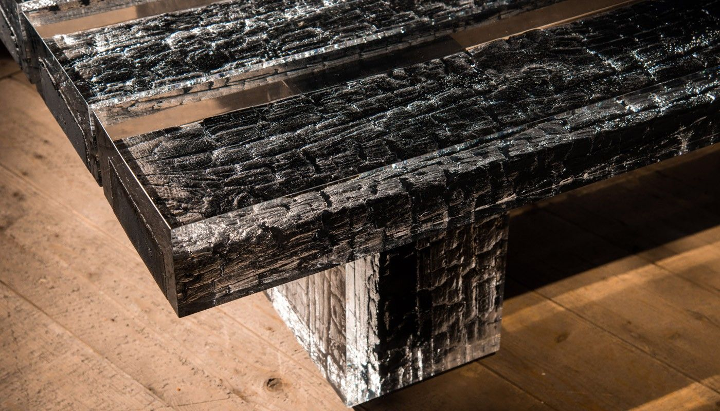 Like A Primeval Volcanic Eruption Frozen In Time The Glacier Coffee Table Spectacularly Freezes Logs Of Burnt Timber In Crysta Coffee Table Table Burnt Timber [ 800 x 1400 Pixel ]