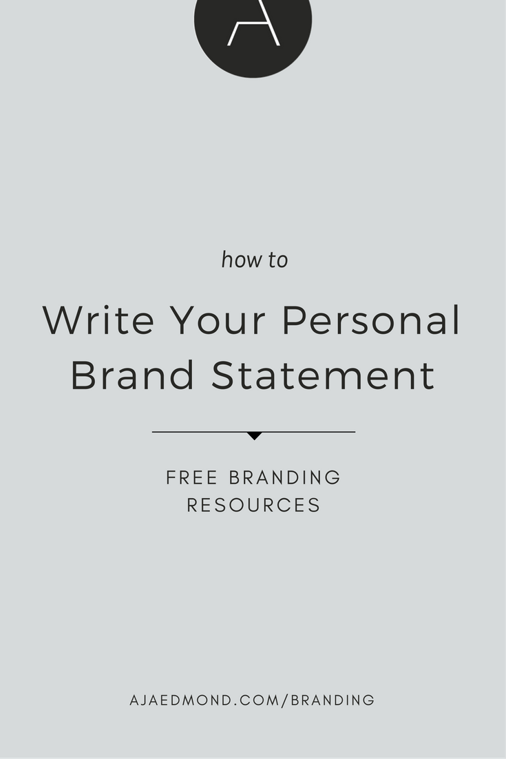 A comprehensive guide to brand strategy for entreprenueurs how to write your personal brand statement maxwellsz
