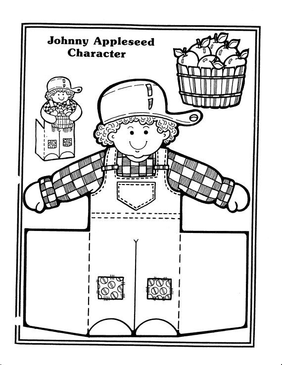 Johnny Appleseed Coloring Pages Johnny Appleseed Apple Seeds