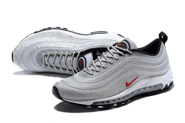 Cheap Nike Air Max 97 LX  gray  red  white Unisex shoes Only Price ... e41c26d7c