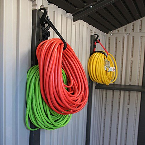 Hook And Hang Garage Storage And Sports Equipment Organizer Heavy Duty Bungee Cord Strap Hook Perfect Tool Box Storage Tool Shed Organizing Storage Hooks