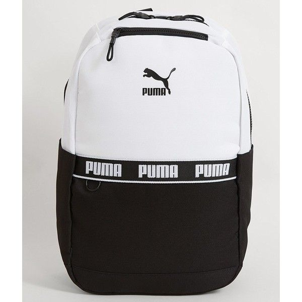 332ba2795465 Puma The Linear Backpack - Black White ( 35) ❤ liked on Polyvore featuring  bags