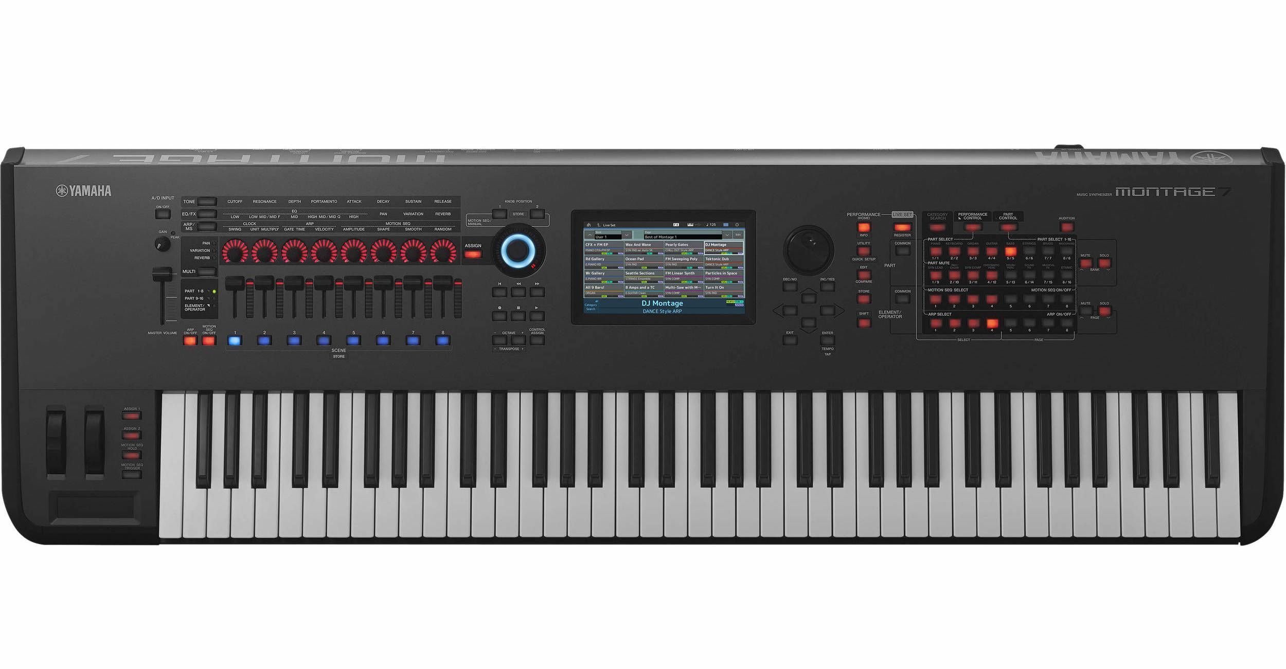 The successor of the Yamaha Motif music production
