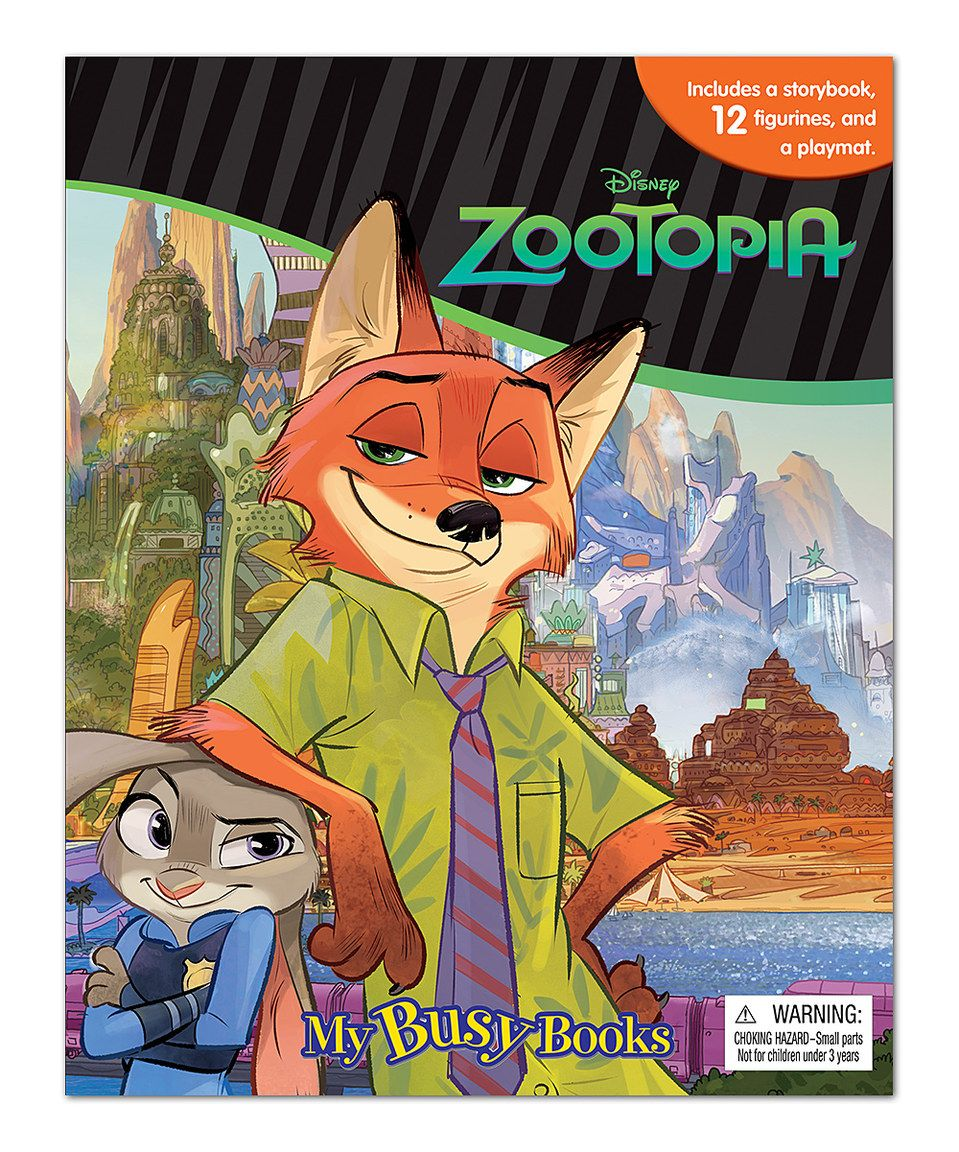 Look What I Found On Zulily Zootopia My Busy Books Figurine Set By Disney S Zootopia Zulilyfinds My Busy Books Disney Zootopia Zootopia