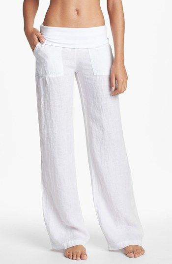 Women's Solow Wide Leg Linen Pants | Linen pants and Wide leg ...