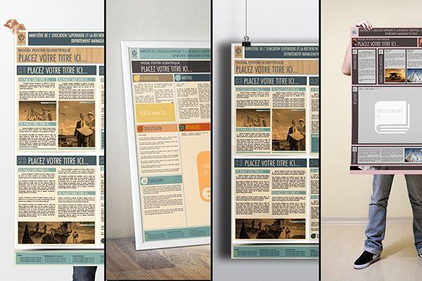 Le Poster Scientifique A0 Powerpoint Templates On Behance Powerpoint Poster Template Powerpoint Poster Poster Template