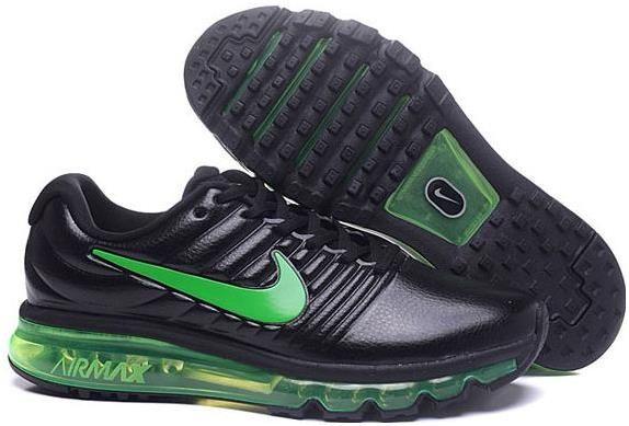 Nike Air Max+2017 Mens Basketball Shoes Black green[849559
