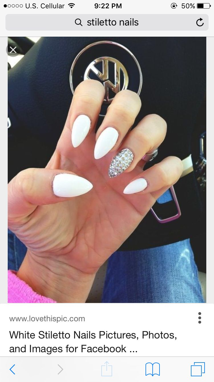Pin By Taylor Milen On Cakkked Stiletto Nails Designs White Stiletto Nails Fashion Nails