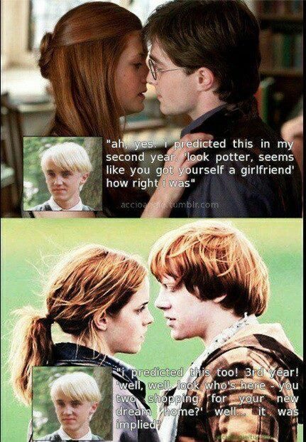 Malfoy Was The Ultimate Shipper Harry Potter Memes Harry Potter Jokes Harry Potter Memes Hilarious