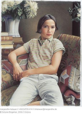 2000 // Viktoria : 80 x 60 cm : Pastell - Simone Bingemer