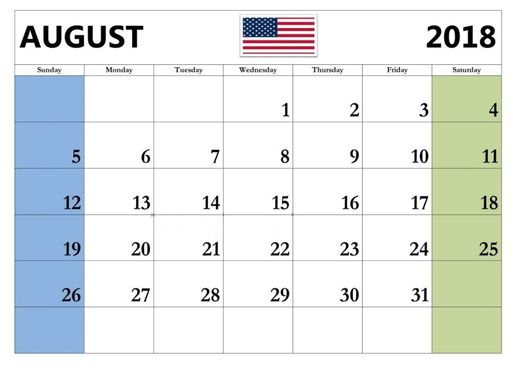 Image result for august 2018 holiday calendar