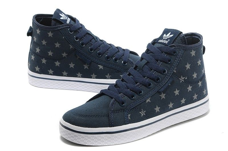 7c800c34c5a5 Adidas Originals Honey High Top Women Sneakers - blue white HOT SALE! HOT  PRICE!
