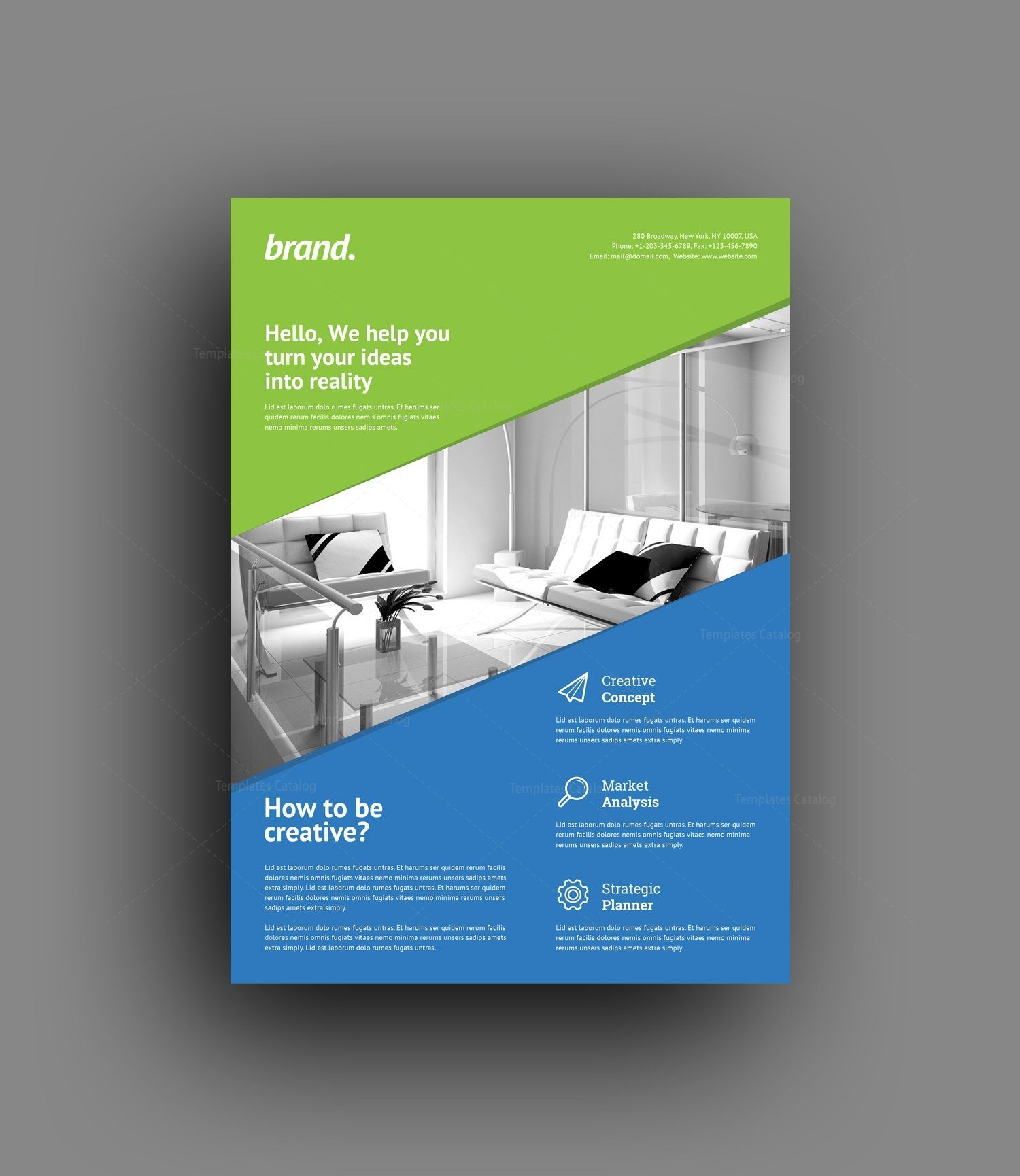 Creative Interior Design Flyer Template With Images Creative