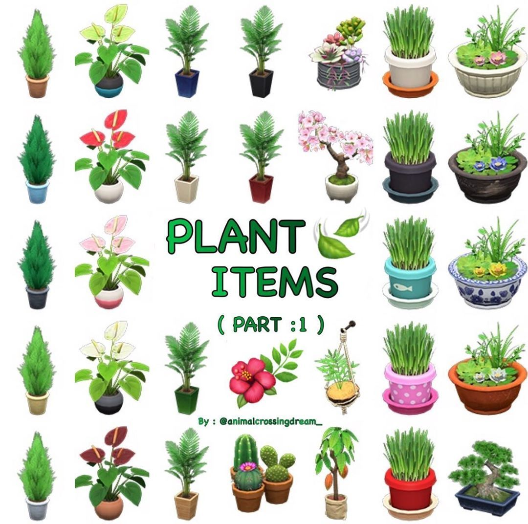 Plant Items In Animalcrossingnewhorizons What Is Your Favourite Objetos De Plantas En Acn In 2020 Animal Crossing Garden Animals Animal Crossing Villagers