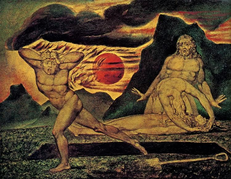 The Body Of Abel Found By Adam Eve 1825 By William Blake