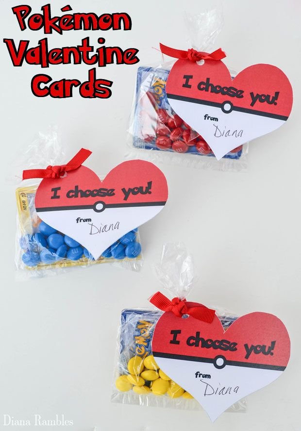 Free Heart Shaped Pokmon Valentine Cards Printable  Cards and