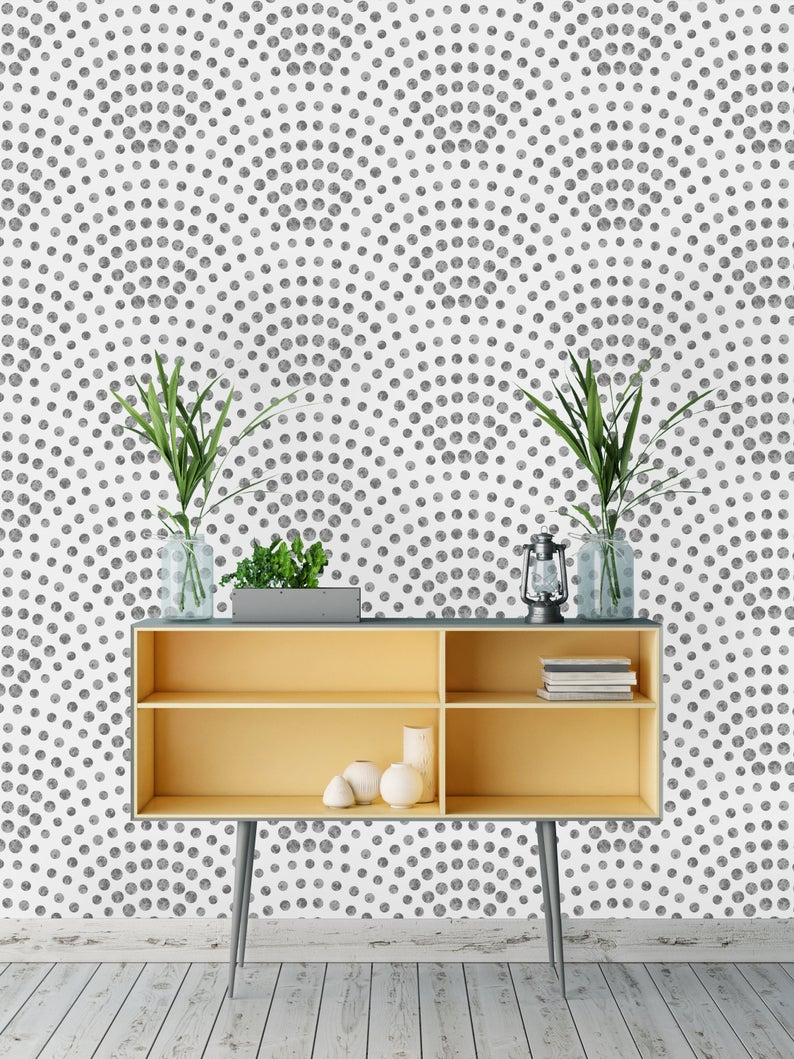 Removable Wallpaper Peel And Stick Wallpaper Self Adhesive Wallpaper Scalloped Dots Peel And Stick Wallpaper Removable Wallpaper Laundry Room Wallpaper