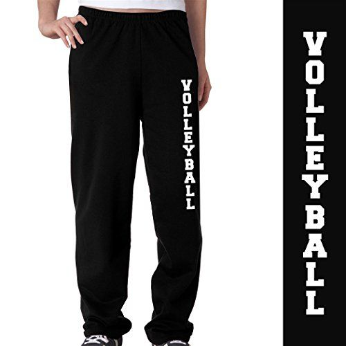 Volleyball Fleece Sweatpants Adult Medium on Black ChalkTalkSPORTS http://www.amazon.com/dp/B00BNJ91DO/ref=cm_sw_r_pi_dp_33Mlwb1G19YJ2