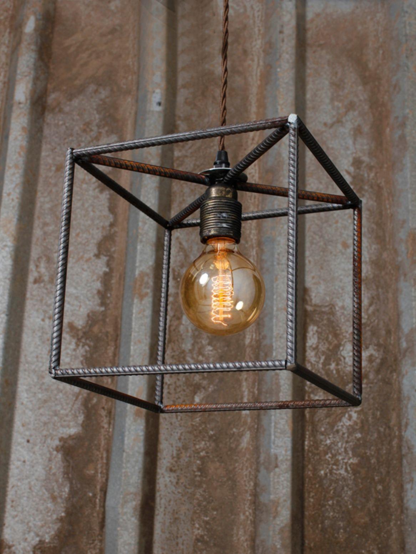 Luminaire Salle De Bain Style Industriel reinforced bar single pendant | bricolage | décoration style