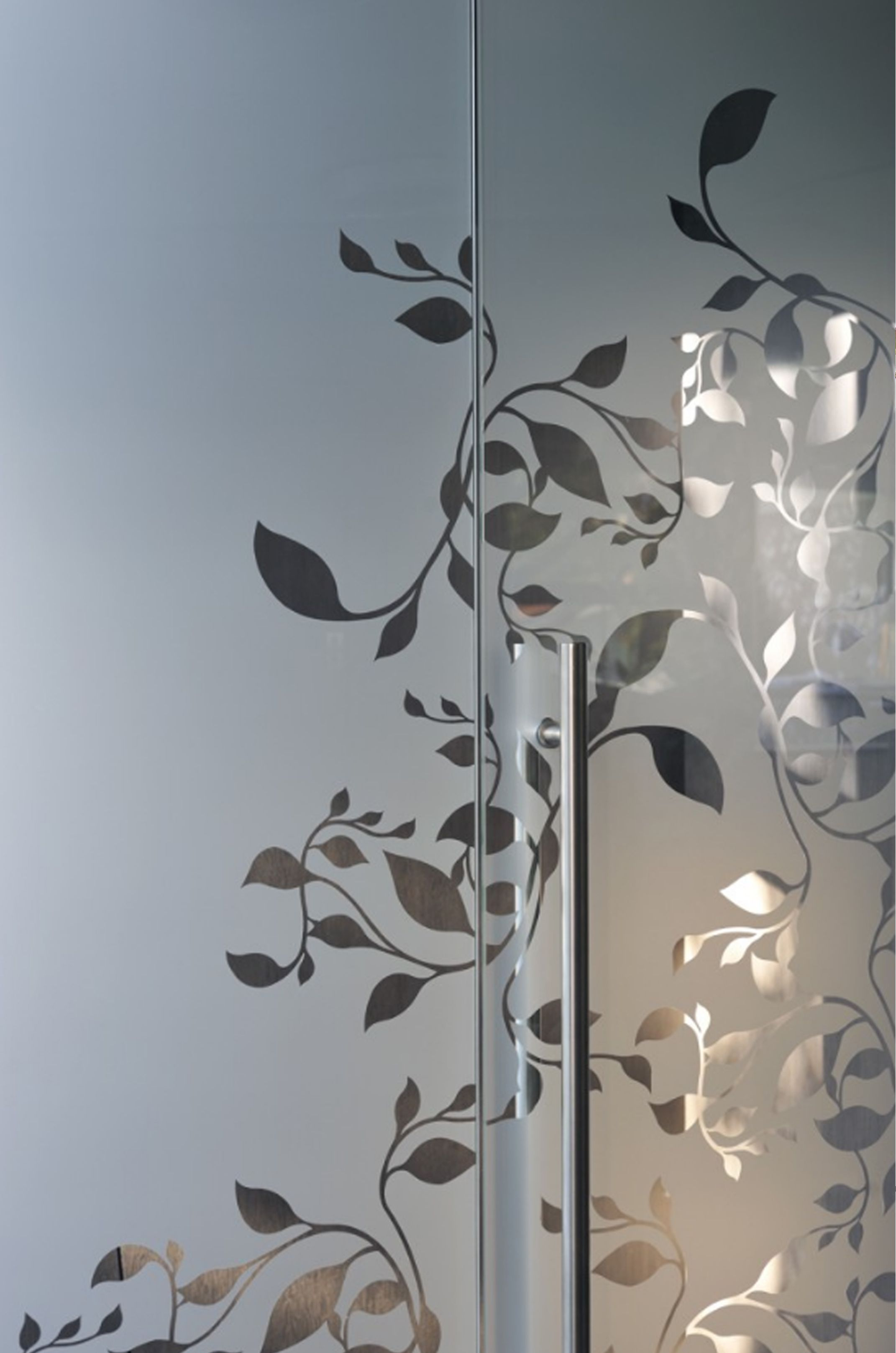 Leaf Cut Out Close Up Frosted Glass Patterns Window