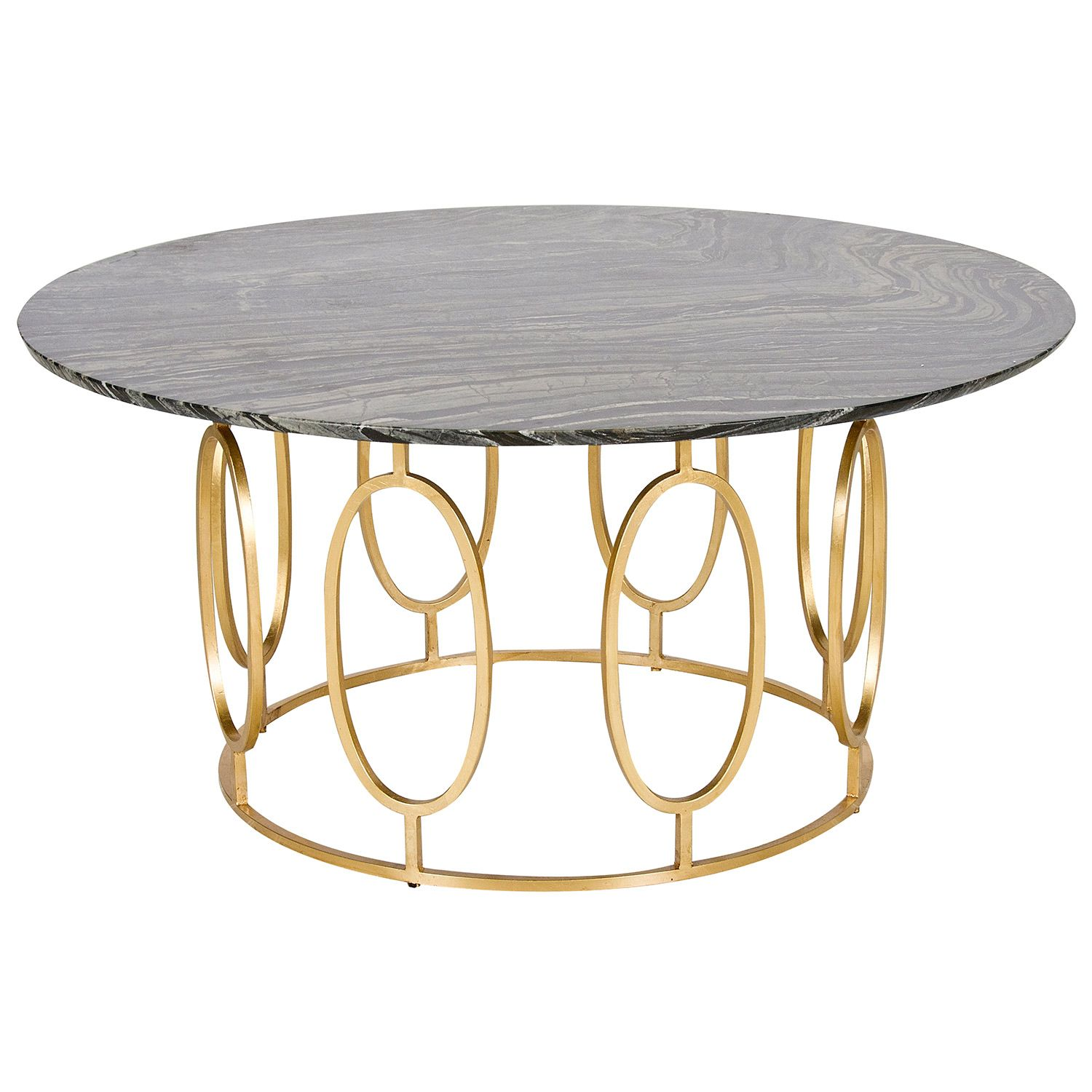 Gl Coffee Table With Gold Legs The