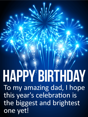To my amazing dad happy birthday card a father as special as to my amazing dad happy birthday card a father as special as yours deserves a birthday celebration to match thats exactly the sentiment behind this m4hsunfo