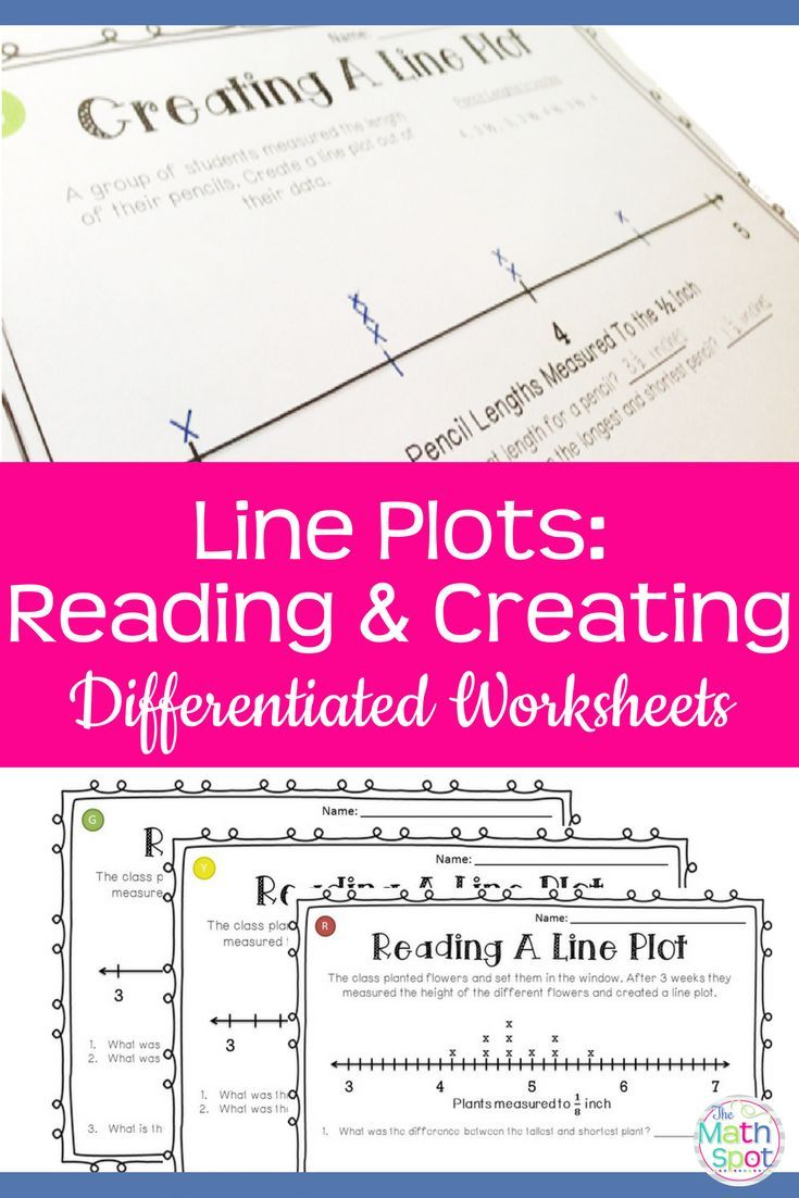 Line Plot Worksheets With Fractions Iteach Third Pinterest