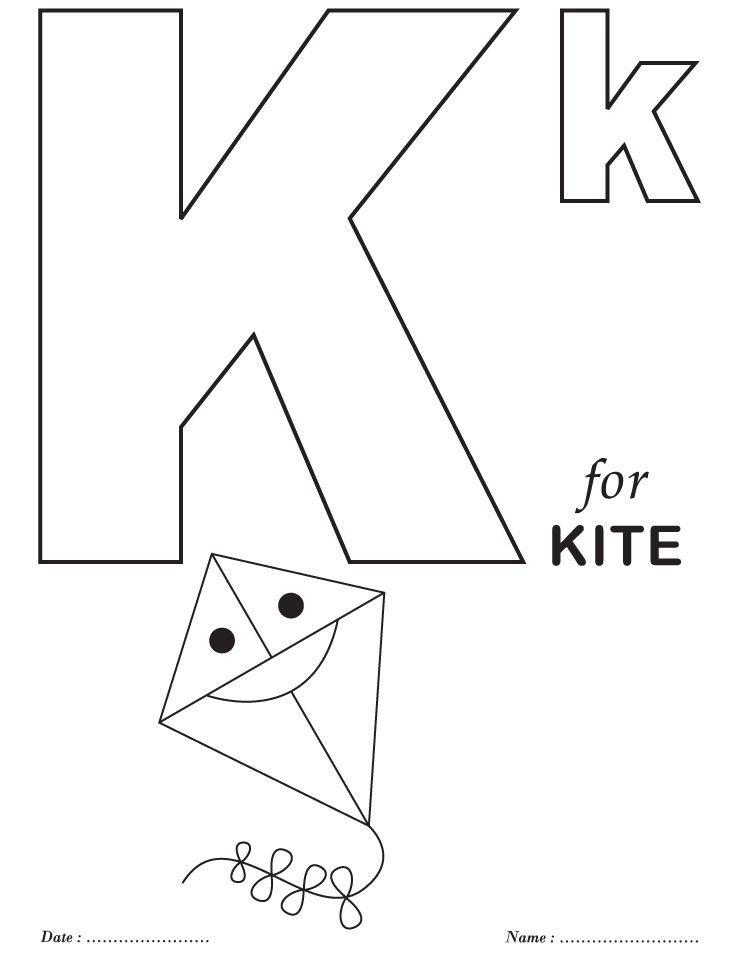 Printables Alphabet K Coloring Sheets