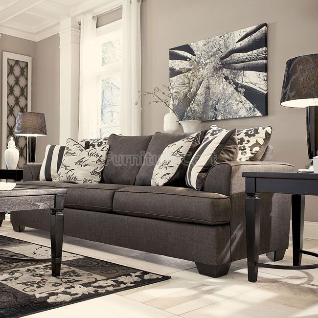 Levon Charcoal Sofa This Is My New Couch I Want These Curtains
