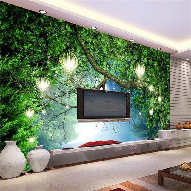 Murales de pared 3d wallpaper HD sueño bosque telón murales TV telón - cascada de pared