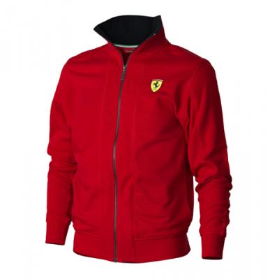 Official Ferrari Merchandise Red Scuderia Ferrari Zipper Sweatshirt