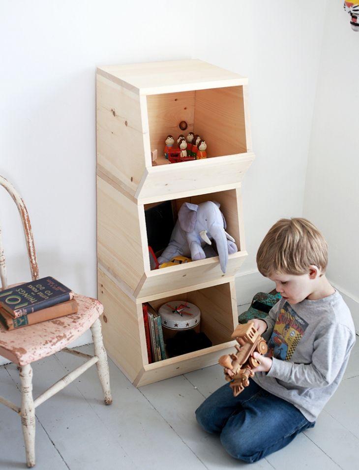 diy wooden toy bins kinderkram kids organizador de juguetes casa de ni os und decoraci n. Black Bedroom Furniture Sets. Home Design Ideas
