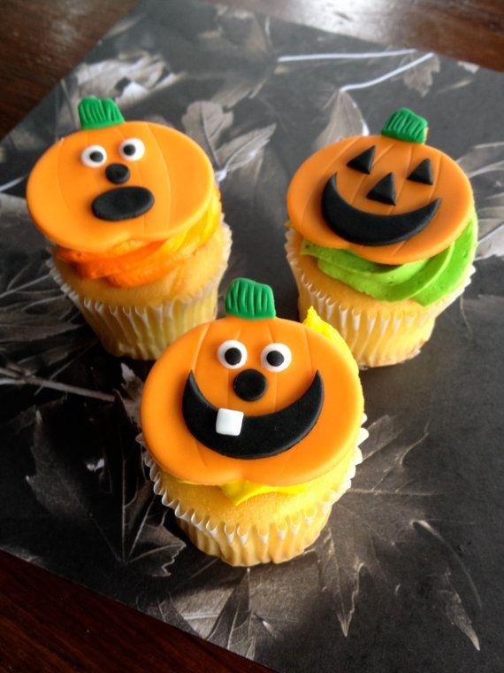 Halloween Cupcake  Cake Adorable fondant Cupcake toppers