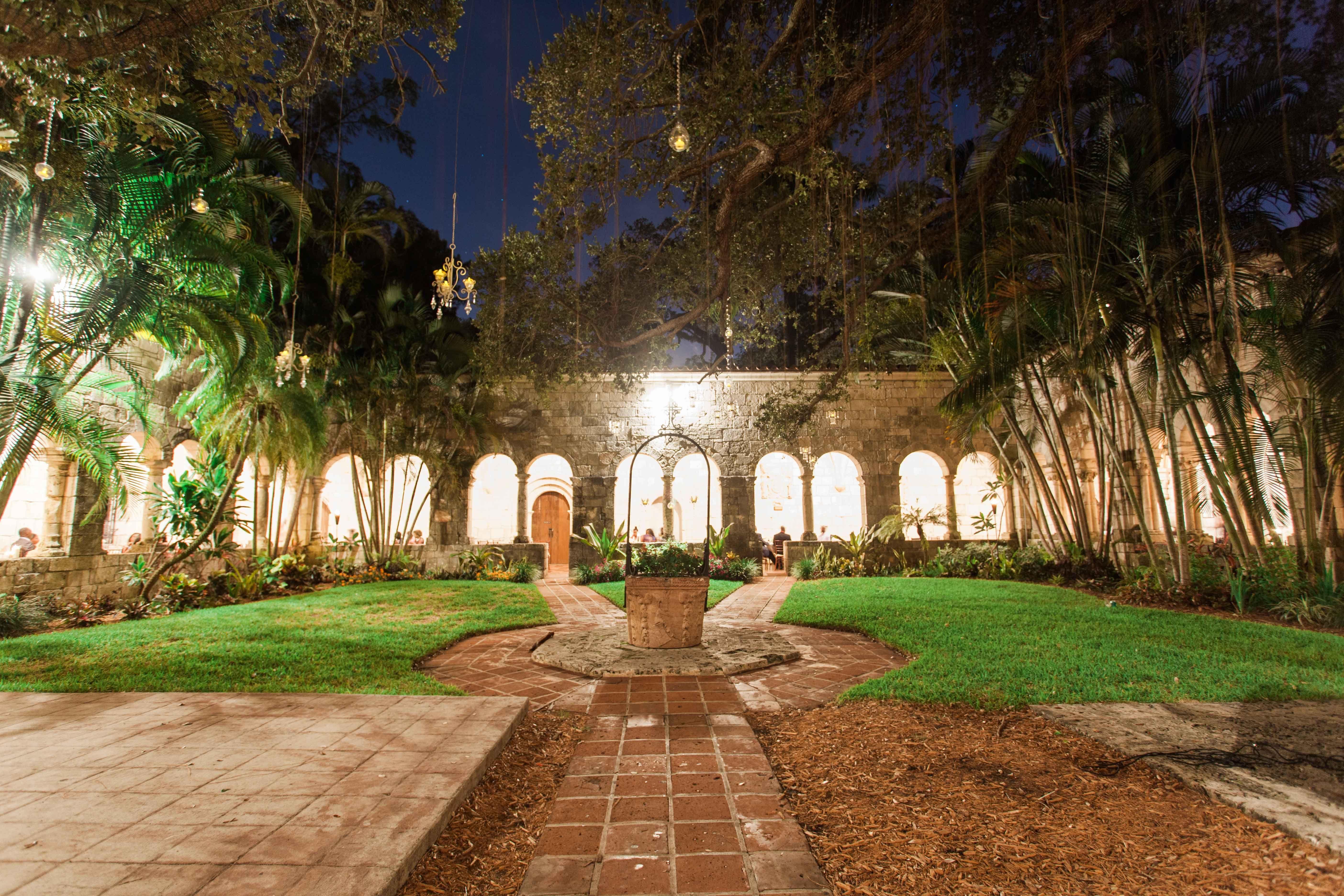 Ancient Spanish Monastery Miami FL Evening Wedding
