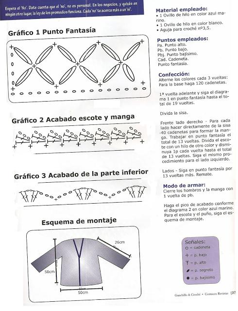 Patrones para Crochet: Top Red Blanco y Negro Patron   Crochet   the ...