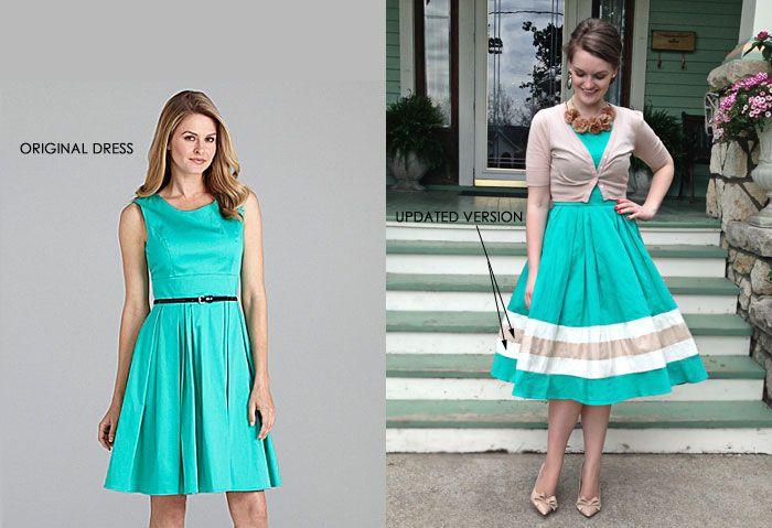 Hacer un vestido corto mas largo
